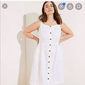 LOFT plus size white dress. New with tags